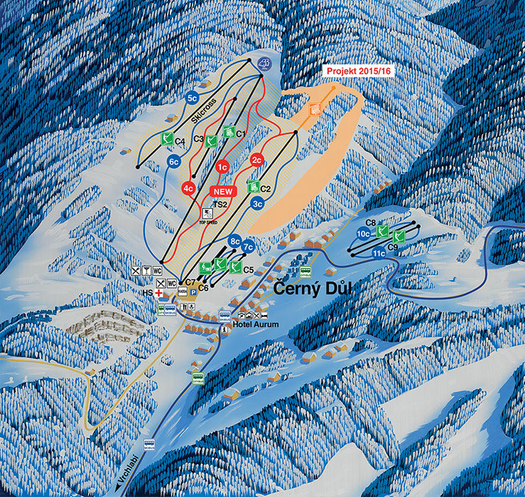 cerny-dul - ski map