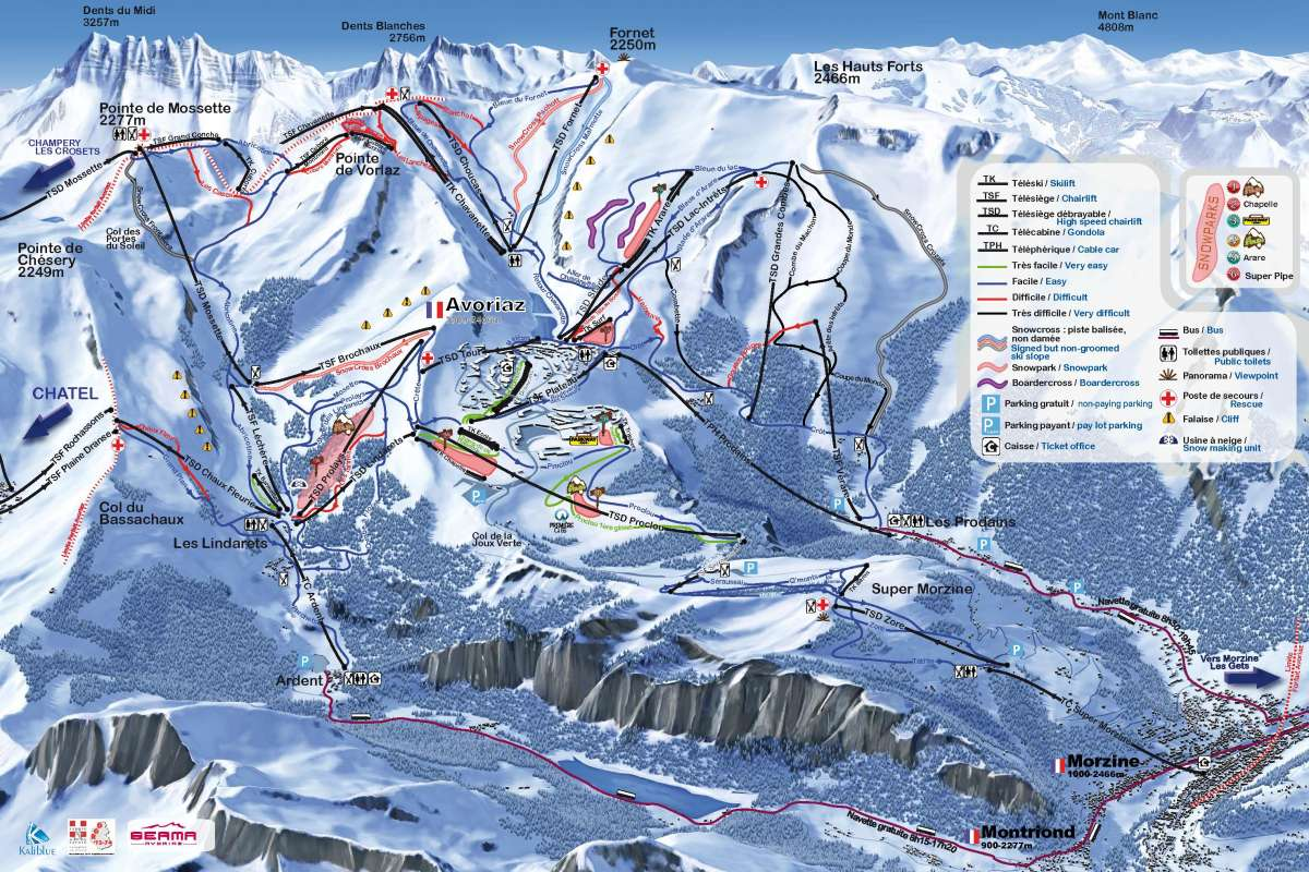 avoriaz - map