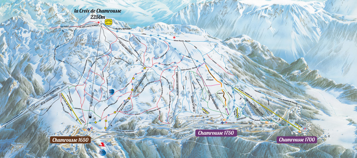 chamrousse - map