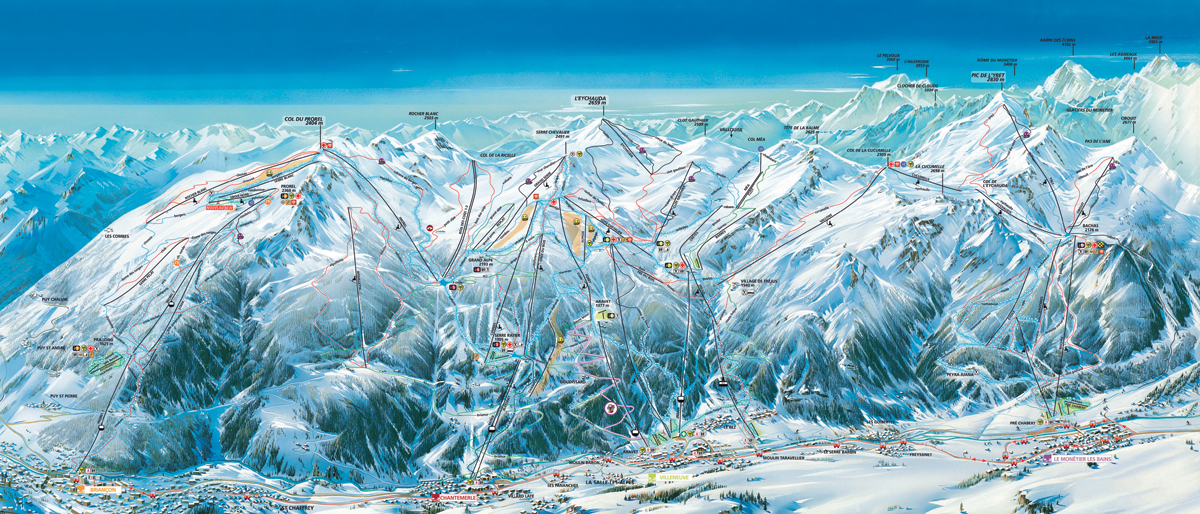 serre-chevalier - map