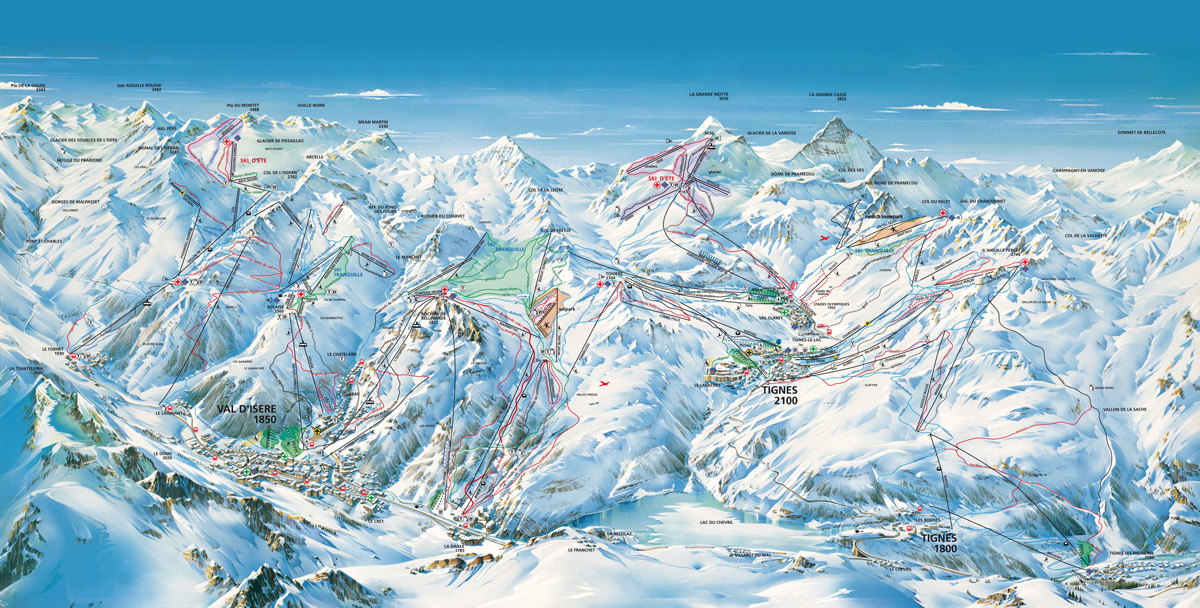 tignes - map