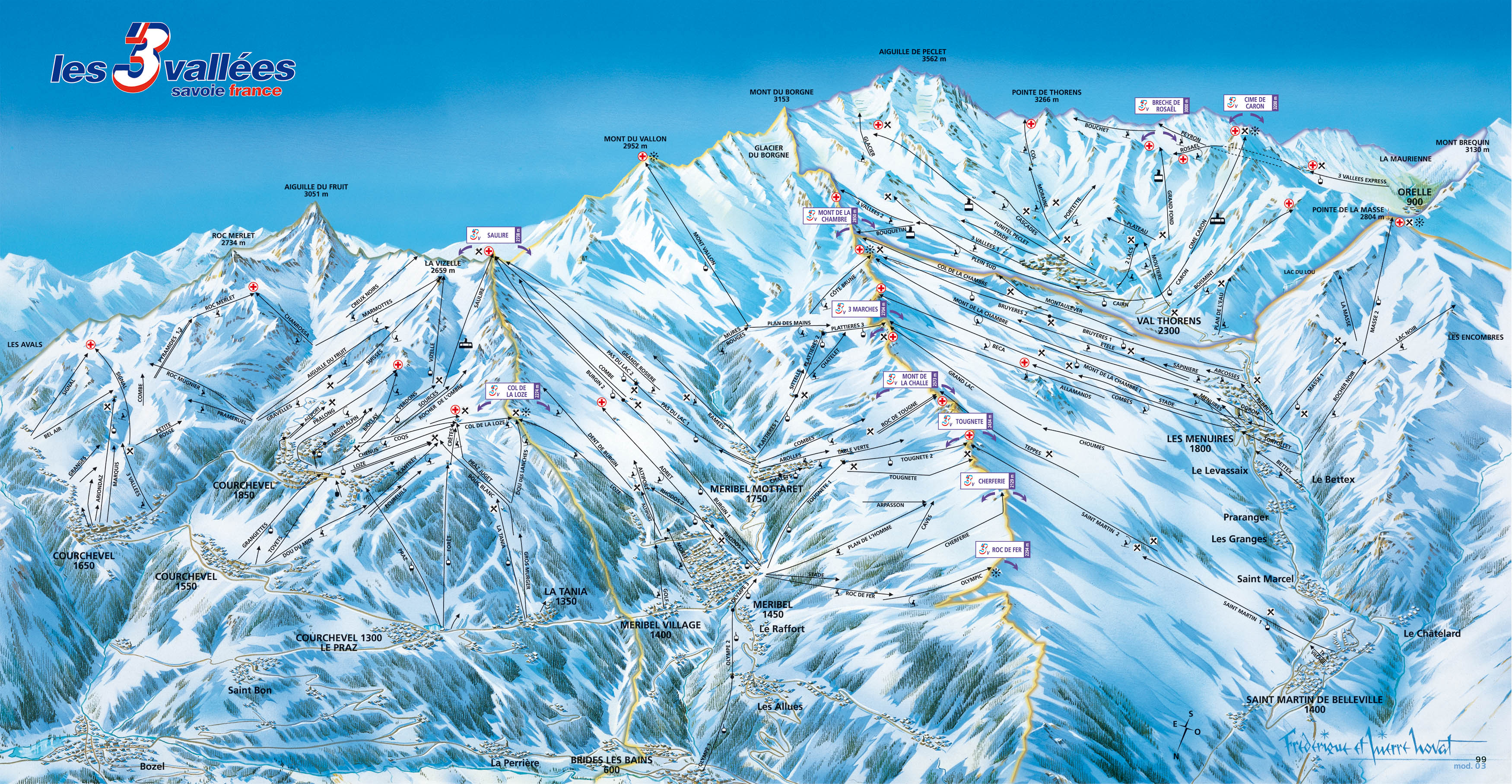 val-thorens - ski map