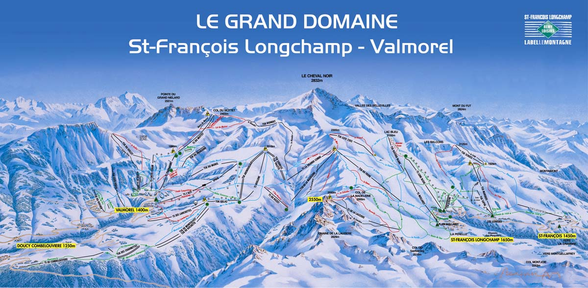 valmorel - map