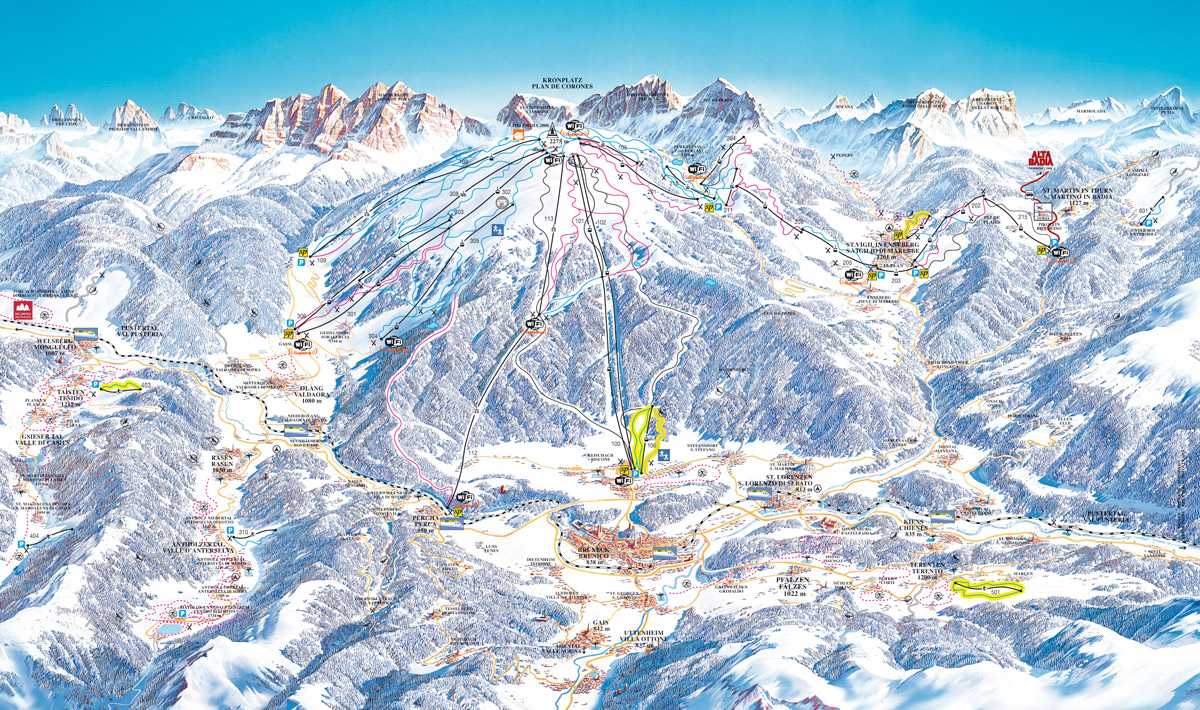 kronplatz - map