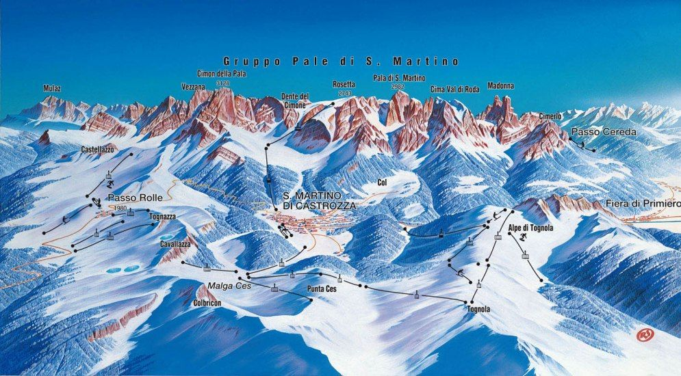Passo Rolle - map
