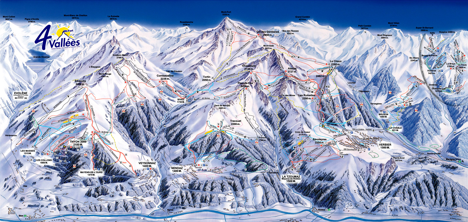 4-vallees - ski map