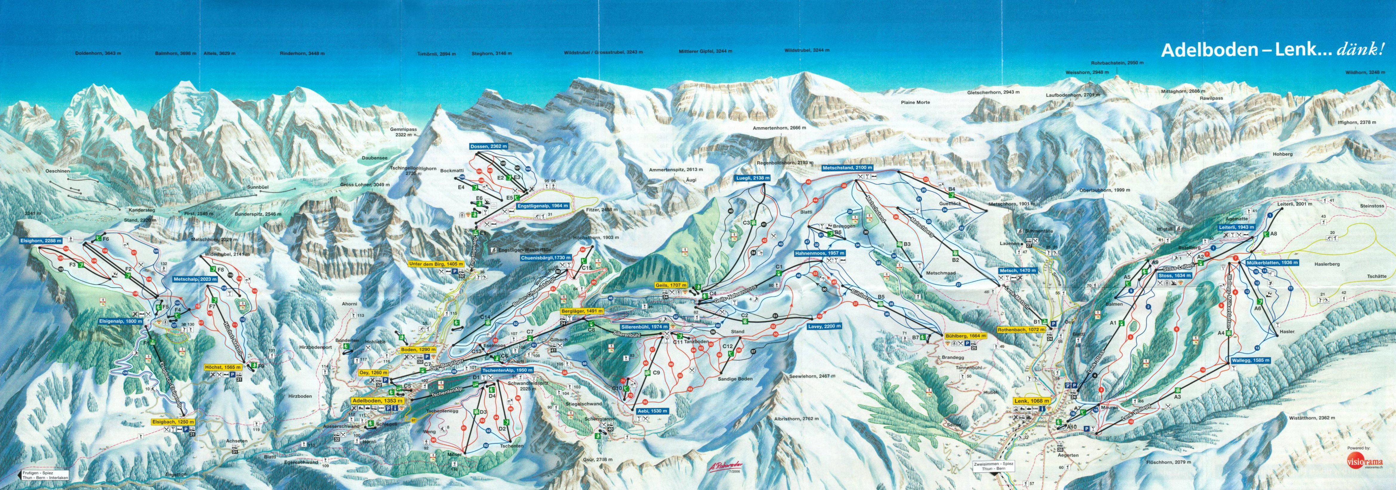 adelboden - ski map